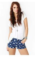 Nasty Gal All Star Cutoff Shorts - Lyst
