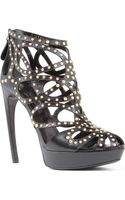 Alexander McQueen Lysippos Caged Leather Sandals - Lyst
