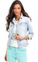 Calvin Klein Jeans Jacket Longsleeve Denim Light Wash - Lyst