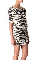 Maje Appriori Zebra Sweater Dress - Lyst