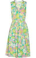 Marni Floral-Print Cotton Dress - Lyst