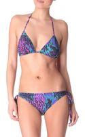 Matthew Williamson Water Garden Triangle Bikini - Lyst
