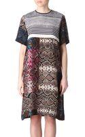 Preen By Thorton Bregazzi Mixedprint Silk Dress - Lyst