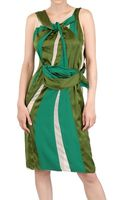 Bottega Veneta Silk Chiffon and Satin Dress - Lyst