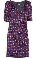 Love Moschino Printed Satin Twill Dress - Lyst