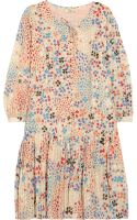 Issa Printed Cotton-Voile Dress - Lyst
