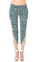 Free People Printed Pant in Navy Combo - Lyst