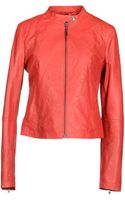 C'n'c' Costume National Leather Outerwear - Lyst