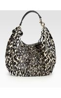 Jimmy Choo Solar Leopardprint Calf Hair Hobo - Lyst