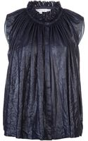 See By Chloé Gathered Blouse - Lyst