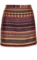 Topshop Safari Ikat A-Line Skirt - Lyst