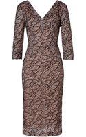 L'Wren Scott Lace Overlay Dress in Black - Lyst