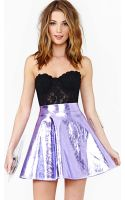 Nasty Gal Electric Metal Skirt Purple - Lyst