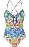 Seafolly Aloha Laceup Swimsuit - Lyst