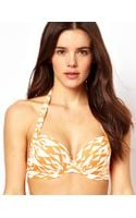 ASOS Collection  50s Halter Padded Fuller Bust Bikini Top  - Lyst
