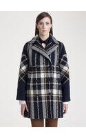 Marni Wool Check Coat - Lyst