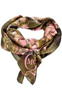 McQ by Alexander McQueen Branded Floral Print Scarf - Lyst