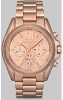 Michael Kors Rose Goldtone Chronograph Watch - Lyst