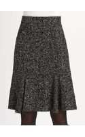 Oscar de la Renta Speckled Tweed Skirt - Lyst
