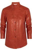 Pringle of Scotland Leather Shirt - Lyst