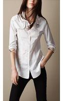 Burberry Brit Heritage Cotton Poplin Shirt - Lyst