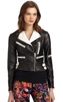 W118 By Walter Baker Brody Fauxleather Motorcycle Jacket - Lyst