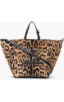 Jérôme Dreyfuss Tan Leopard Print Calfhair Jacques Shopping Bag - Lyst