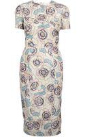 Rochas Floral Print Dress - Lyst