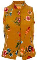 Kenzo Vintage Floral Print Waistcoat Top - Lyst