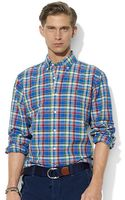Polo Ralph Lauren Classic Fit Long Sleeved Checked Poplin Shirt - Lyst