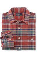 Polo Ralph Lauren Longsleeved Plaid Oxford Workshirt - Lyst