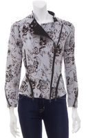 3.1 Phillip Lim Floral Corded Moto Jacket - Lyst