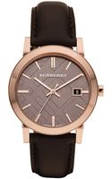 Burberry Womens Brown Strap Rose Gold Watch - Lyst
