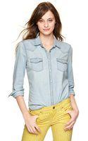 Gap Bleached Western Shirt - Lyst