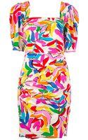 Emanuel Ungaro Floral Print Dress - Lyst