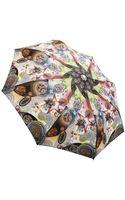 Jean Paul Gaultier Multi Print Folding Umbrella - Lyst