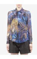 Theyskens' Theory Blurry Printed Silkchiffon Shirt - Lyst