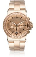 Michael Kors Rose Goldtone Stone Set Watch - Lyst