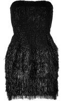 Roberto Cavalli Sequined Mixedmedia Dress in Black - Lyst