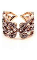 Sabine G Heart 18k Rose Gold and Diamond Ring - Lyst
