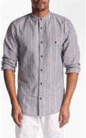 7 For All Mankind Mandarin Collar Shirt - Lyst