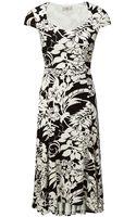 Cc Tropical Print Jersey Dress - Lyst