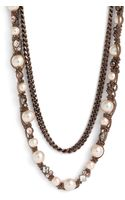 Givenchy Faux Pearl Chain Necklace - Lyst