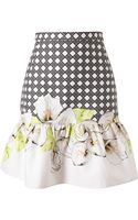 Isolda Printed Stretch Cotton Skirt - Lyst