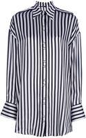 Balmain Striped Monochrome Shirt - Lyst