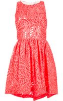 MSGM Laser Cut Dress - Lyst