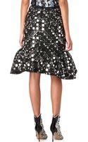Peter Pilotto Mirror Flower Skirt - Lyst