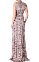 Saloni Printed Maxi Dress - Lyst