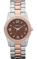 DKNY Stainless Steel and Rose Gold-plated Watch - Lyst