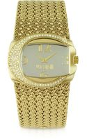 Just Cavalli Rich Golden Weave Bracelet Watch - Lyst